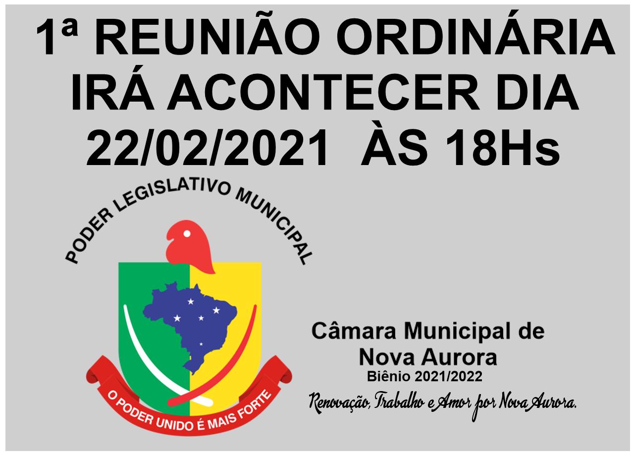 Primeira Reunião Ordinária de 2021