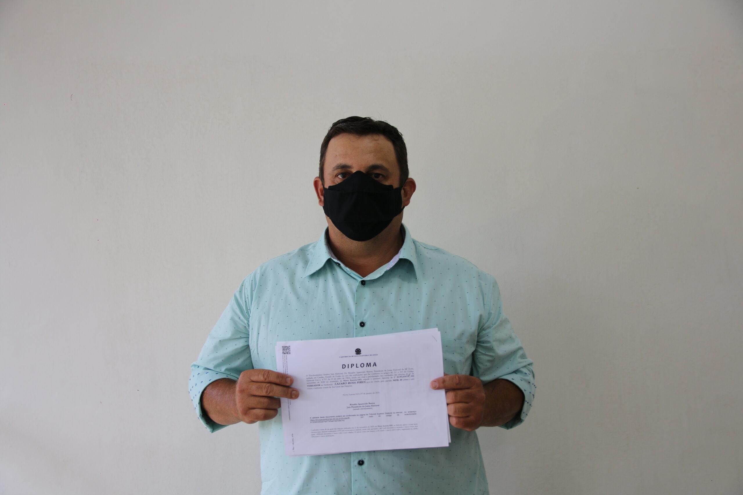 Lazaro Rosa (Lazin) é empossado como vereador para mandado 2021/2024.