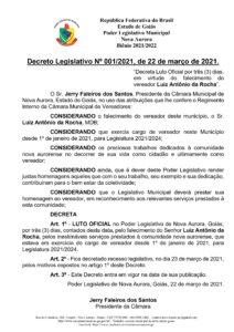 Decreto Legislativo 001/2021